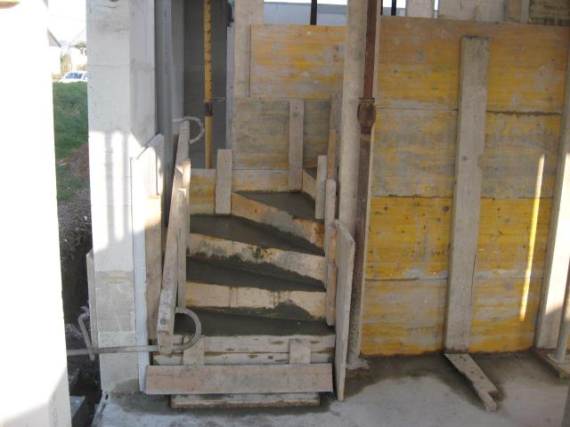 Escalier Béton Dans Construction Neuve | Pl Constructions